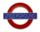 London Underground Sign,  'Underground' , Metal Pin Badge (GWC)